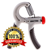BEST Grip Strengthener - Adjustable 10-40kg Resistance Hand Exerciser - Perfect Gripper For Finger, Hands and Forearm Strengthening, Injury Rehabilitation, MMA Training, Weight Lifting and Fitness - 100 . .