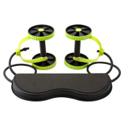 New Sport Core Double AB Power ab roller ab wheel fitness Abdominal exercises Equipment coaster Pull roda Waist Slimming Trainer