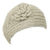 Wrapables Hand Knit Floral Headband