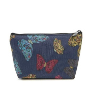 Blue Butterfly Makeup Bag Cosmetic Pencil Case