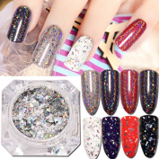 SMILEQ 1g Galaxy Holo Flakes Nail Sequins Bling Laser Powder Glitter Chrome DIY
