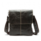 GTUKO Casual New Arrival Genuine Leather Men'S Bag Shoulder Bags For Men Cross Body Portfolio 8006 , Deep Coffee