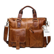 Yoome Leather Men Bag Genuine Leather 43cm Laptop Computer Business Briefcase Bags Cowhide Handbag Case