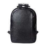 GTUKO Laptop Backpack Men'S Brand Travel Black Backpacks Genuine Leather School Bags For Teenagers , Black