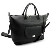Bovari Genuine Leather XL Women's Shoulder Bag Handbag Business Bag Laptop Bag Model Marlene 3 - 48x31x12 cm – black