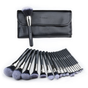 Makeup Brush Set Collection Anbber 18pcs Professional Elite Cosmetic Brushes with Soft and Cruelty-Free Synthetic Fibre Bristles for Flawless Looks - Elegant PU Leather Pouch Included