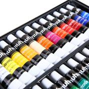 Ohuhu Watercolour Paint Set, 24 Colours Artists Water-colour Painting Kit, 12ml x 24 Tubes