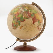 Waypoint Geographic Como 30cm Desktop Globe with Metal Numbered Meridian and Wood Base for Home & Office (Classic Antique Ocean) World, Beige, 1.1kg