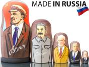 "Russian Nesting Doll - ""Russian Leaders"" - Hand Painted in Russia - Traditional Matryoshka Babushka - Communist Leaders"