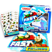 Thomas the Train Floor Puzzle Set -- Giant Puzzle and over 100 Thomas and Friends Reward Stickers for Kids Toddlers