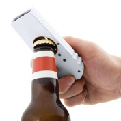 E-SCENERY Novelty Flying Zappa Beer Drink Bottle Opener Cap Launcher, Top Shooter with Key Ring