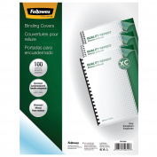 Fellowes 52311 Crystals Presentation Covers with Round Corners, 11 1/4 x 8 3/4, Clear