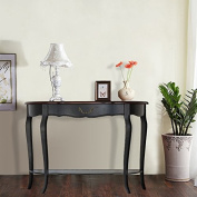 Attraction Design Console/Sofa Table, Ash Tree Curved Legs Hall Table Console Table Sofa Table with Three Drawers, Accent Table, Rectangular