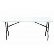 Plastic Folding Table 46cm x 160cm - Multipurpose, Heavy Duty Utility Table for Indoors and Outdoors, Camping, Picnics, Barbecues and More - 1.7m - by Ontario Furniture
