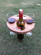 Portable Folding Wood Cocktail Table