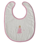 Powell Craft Towelling Embroidered Angel Bib