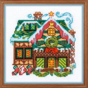 RIOLIS 1663 House with One Bell Cross Stitch Kit, Cotton, multicolour, 38cm x 1cm