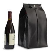 Leather Wine Bag Black 4 Bottle #25684