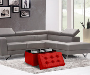 Home Sweet Home Ottoman Faux Leather Bench Folding Box Storage