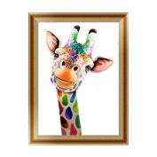 5D Diamond Painting, Staron Home Decor Giraffe DIY Diamond Rhinestone Painting By Number Kit Needlework Cross Stitch Stamped Kit 5D Diamond Painting Embroidery Art Wall Decor