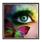 DIY 5D Diamond Painting, Staron Cross Stitch Kit Crystals Butterfly Eye 5D Diamond Painting Embroidery Home Decor Craft