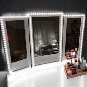 Led Vanity Mirror Lights Kit, Kohree 13ft/4M Make-up Vanity Mirror Light Strip for Makeup Vanity Table Dresser, Dimmer, UL Certified Power Supply, 6000K Daylight, DIY Hollywood Style Mirror Light