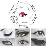 Eyeliner Stencil Models, 6 IN 1 Stencils For Perfect Cat Eyeliner And Smoky Eyes Makeup Tool, 6 Styles of Eyeliner Stencil Models for the perfect Eyeline, Cat Eyeliner, Double Wing, Extravagant Cat, A