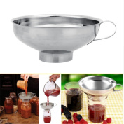 Yinew Stainless Steel Wide-Mouth Canning Funnel Kitchen Funnel,L