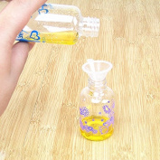 CWAIXX Liquid-packing plastic funnel perfume lotion makeup tools mini small funnel oil trouble