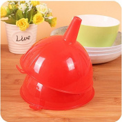 CWAIXX Kitchen daily oil packaging Metre leak Water leak Funnel Oil leak Household plastic funnel