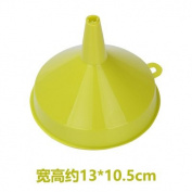 CWAIXX Household plastic oil funnel large diameter kitchen supplies food with ear versatile long-neck liquid oil leak oil , No handles