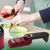 Rosepoem Rotatable Non-slip Knife Sharpener Grind Stone Whetstones Blades Sharpening Kitchen Supply Tool Gadget Release Button Sharpener