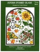 Autumn Stained Glass Chart Leaflet