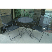 Black Bistro set Patio Set Table and Chairs Outdoor Furniture Wrought Iron CAFE set