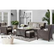 All-Weather Wicker w/ Sunbrella Fabrics Outdoor Patio 6pc Deep Seating Set