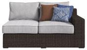 Ashley Furniture Signature Design - Alta Grande Outdoor Loveseat Set - Left & Right Arm Facing Loveseats - Beige & Brown