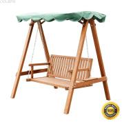 COLIBROX--Outdoor 2 Person Larch Wooden Swing Loveseat Hammock Canopy Patio Garden Furni,2 Person Larch Swing Loveseat Hammock,swing chair outdoor,hammock swing chair,lowes porch swing