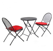 MD Group Patio Seat Foldable Heavy-duty Steel Fabric Mesh Light-weight Outdoor Furniture Sets