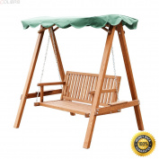 COLIBROX--Outdoor 2 Person Larch Wooden Swing Loveseat Hammock Canopy Patio Garden Furni,2 Person Larch Wooden Swing Loveseat Hammock,swing chair outdoor,hammock swing chair,lowes porch swing