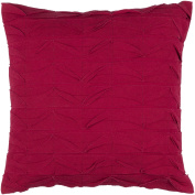 50cm Bright Red Solid Textured Square Decorative Throw Pillow - Down Filler