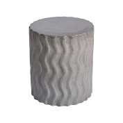 Dimond Home 157-041 Wave 46cm Polished Concrete Outdoor Stool