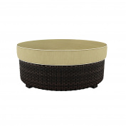 Ashley Furniture Signature Design - Spring Ridge Outdoor Ottoman with Cushion - Beige & Brown