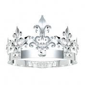 DcZeRong King Crown Queen Crowns Crystal Metal Crown Adult Men Women Birthday Prom King Queen Crown