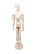 Posable 33cm Flexible Art and Drawing Wooden Man Model Mannequin Manikin for Sketching Figure Crafts and Modelling