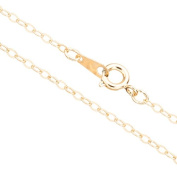 Gold Flat Oval Link Chain Necklace With Springring Clasp 20Inch 14K Gold Finished Brass 2mm Chain Width Sold per pkg of 1pcs