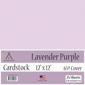 Lavender Purple Cardstock - 30cm x 30cm - 29kg Cover - 25 Sheets