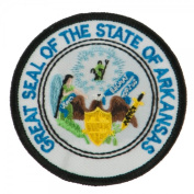 State Seal Patch Round 7.6cm Diameter, Embroidered Iron On or Sew On Seal Patch Flag Emblem