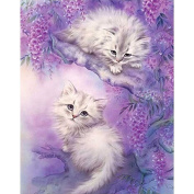 display08 Cute Two White Cat Couple Diamond Painting DIY Embroidery Craft Home Decor