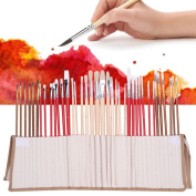 38PCS Artists Paint Brushes Art Set For Acrylic Oil Watercolour 3 Style Portable with Carrying Pouch