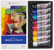 ZenART's ESSENTIAL Palette Oil Paint Set – with Fundamental Colours from the Infinity Series of Professional Artists' Oil Colours, Non-toxic, Lightfast, High Pigment Load, 8 x 45ml Tubes
